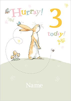 Guess How Much I Love You - Hurray 3 Today Personalised Card