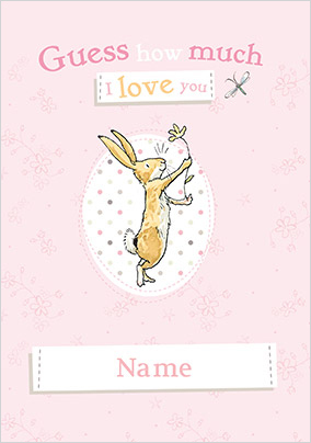 Guess How Much I Love You Personalised Card