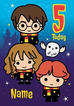 Harry Potter - 5 Today Personalised Card