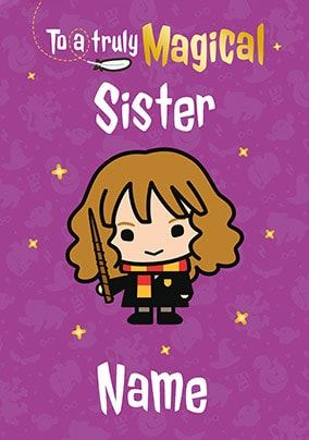 Harry Potter - Sister Personalised Birthday Card