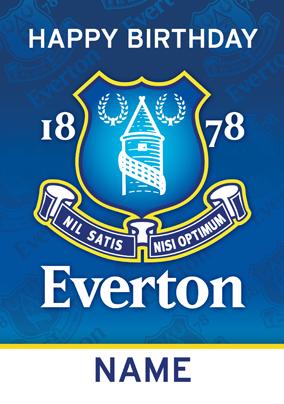 EVERTON FC HAPPY BIRTHDAY CARD PRESENT NEW GIFT