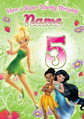 Disney Fairies Age 5 Birthday Card