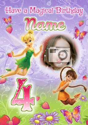 Disney Fairies Age 4 Photo Card