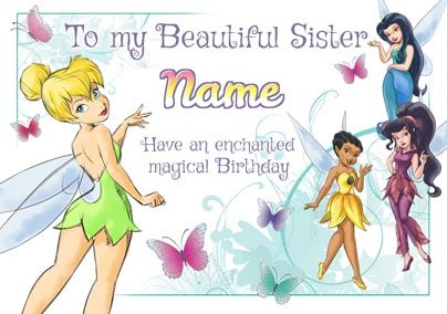 Disney Fairies Sister Birthday Card