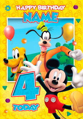 mickey mouse clubhouse group yellow funky pigeon