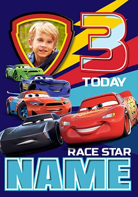 Cars 3 Photo Birthday Card