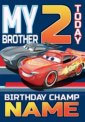 Cars 3 Brother Birthday Card