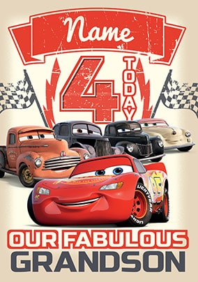 Cars 3 Grandson Birthday Card