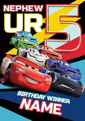 Cars 3 Nephew Birthday Card