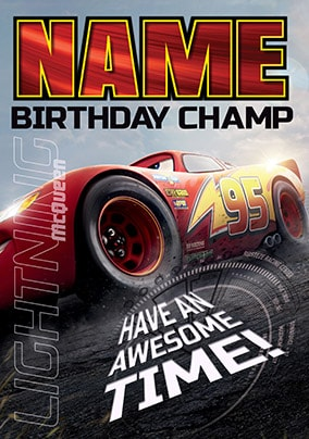 More Like This Lightning McQueen Cars 3 Birthday Card