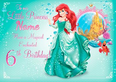 Magical Ariel Birthday Card