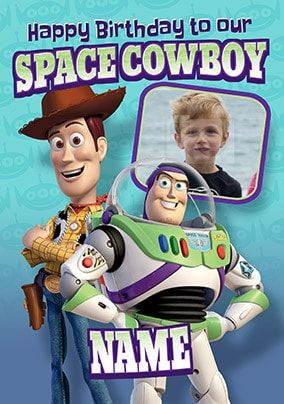 Buzz and Woody Photo Birthday Card
