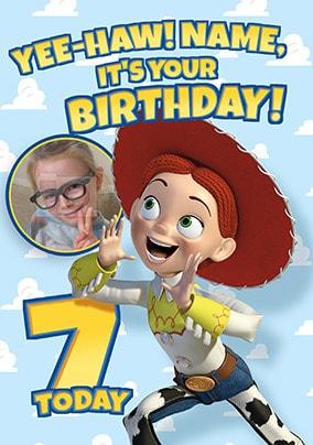Toy Story Jessie Photo Birthday Card Funky Pigeon