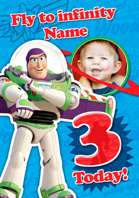 Buzz Lightyear Birthday Card - Fly to Infinity