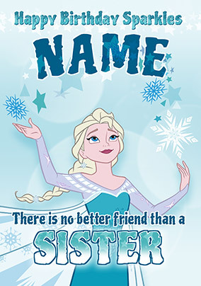 Frozen Sister Birthday Personalised Card