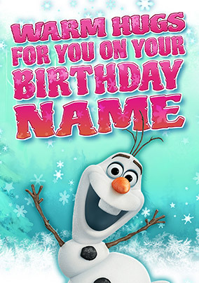 Frozen Olaf Personalised Birthday Card