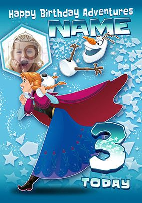 Anna and Olaf Birthday Adventures Card