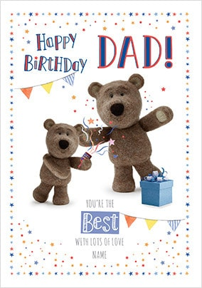 Barley Bear Dad Youre The Best Personalised Card