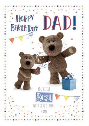 Barley Bear Dad You're The Best Personalised Card