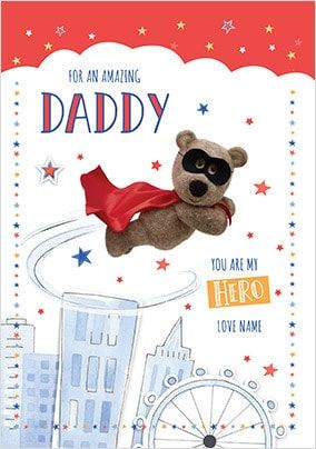 Barley Bear Amazing Daddy Personalised Card