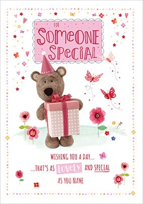 Barley Bear Someone Special Personalised Birthday Card