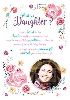 Daughter Verse Photo Birthday Card