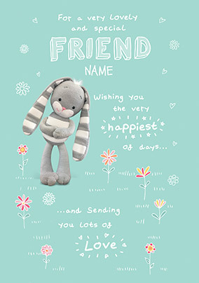 Hun Bun Special Friend Personalised Birthday Card