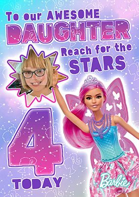 Barbie Awesome Daughter Photo Card