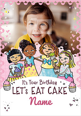 Lets Eat Cake Birthday Photo Card