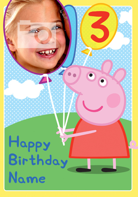 Peppa Pig Photo Birthday Card