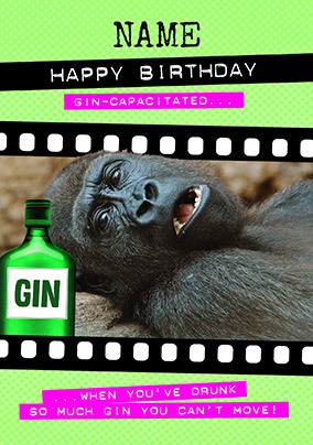 Gin-Capacitated Personalised Card