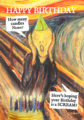 Hope your Birthday is a Scream Personalised Card