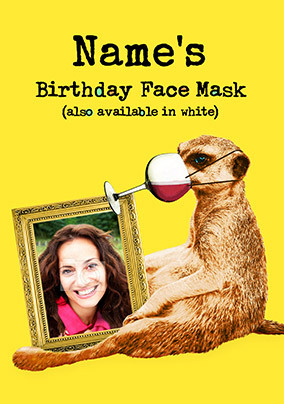 Birthday Face Mask Photo Card