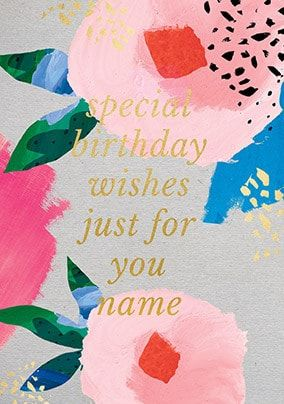 Birthday Wishes Just For You Personalised Card