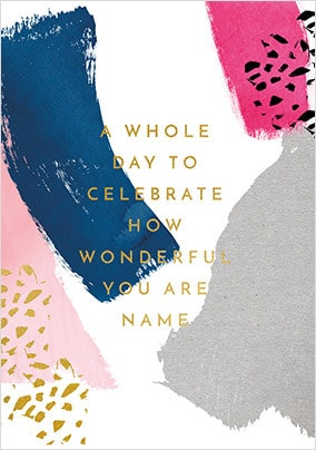 A Whole Day To Celebrate Personalised Card