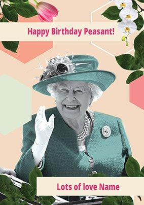 Happy Birthday Peasant Personalised Card