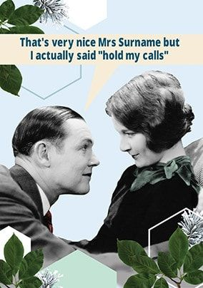 Hold My Calls Personalised Birthday Card
