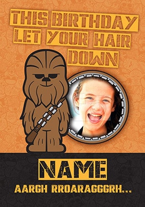 Chewbacca Photo Birthday Card