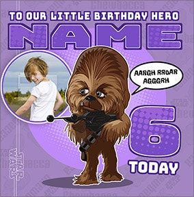 Chewbacca 6 Today Photo Card