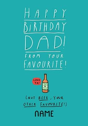 Dad From Your Other Favourite Personalised Card
