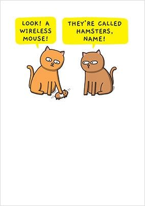 A Wireless Mouse Personalised Card