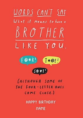 Brother Like You Personalised Card