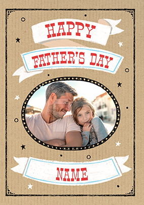 Happy Father's Day Photo Upload Card