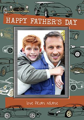 Happy Father's Day Car Photo Card