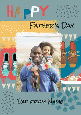 Happy Father's Day Dad Photo Card