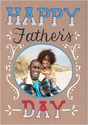 Happy Father's Day Typography Photo Card