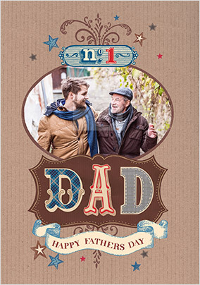 No.1 Dad Father's Day Photo Card