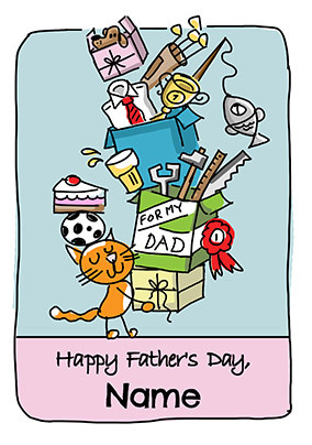 Babette - Happy Father's Cat Personalised Card