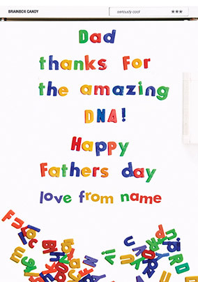 Amazing DNA Personalised Father's Day Card