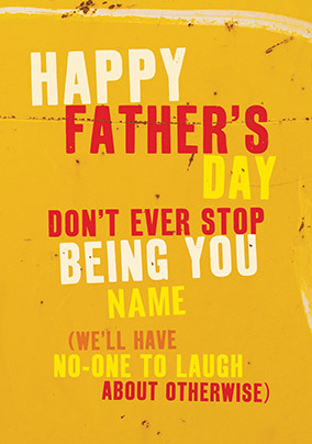 Being You Personalised Father's Day Card